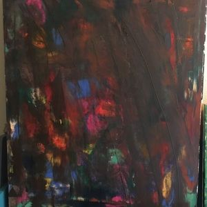 One of a kind Hans painted abstract painting